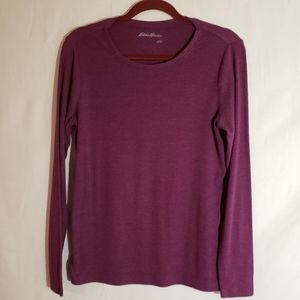 Eddie Bauer long sleeve tee shirt, size Large